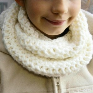 Snood enfant beige