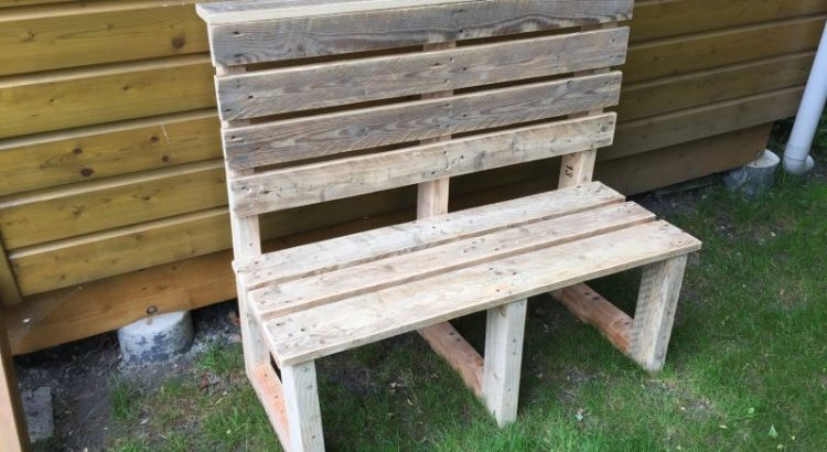 banc jardin bois palette atelier