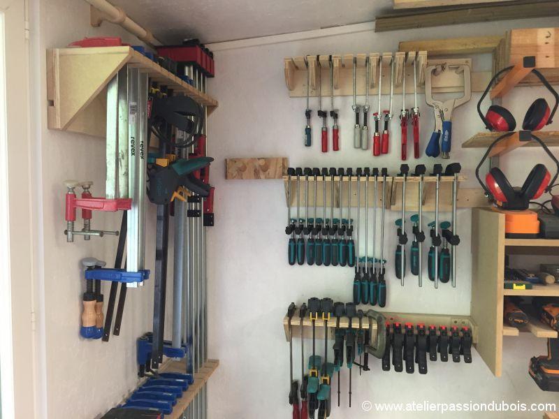 rack serre joint mural atelier