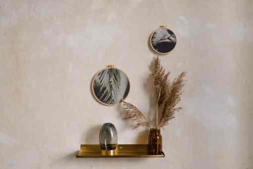 Stoffdruck im Stickrahmen von Nicole Siemers für das atelier.91