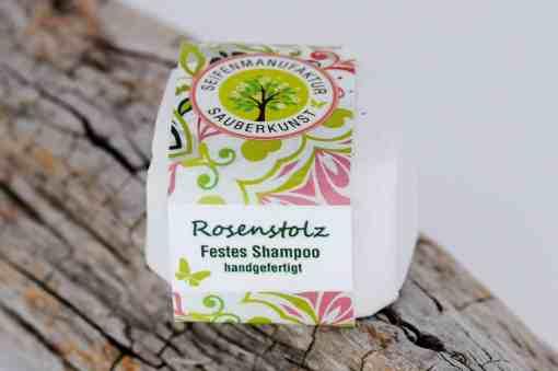 Festes Shampoo Rosenstolz von Sauberkunst Seifenmanufaktur