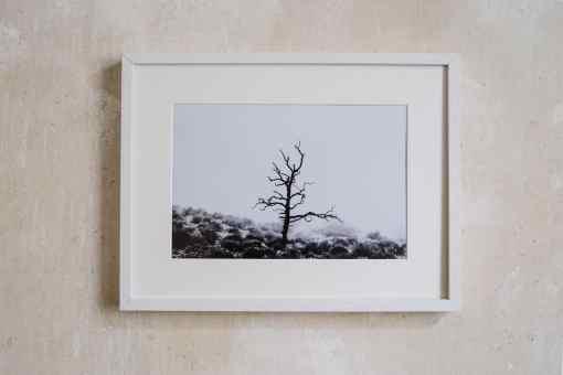 Weisser Bilderrahmen aus Holz 30x40 cm mit Passepartout