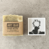 Limitierte Art Bar Seife Black Nettle mit limitiertem Art Print von Jen Black, atelier.91