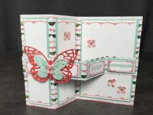 Carte double Z anniversaire Coffret de souhait Famelits Papillon audacieux, Thinlits Papillons Watercolor Wings et son tutoriel par Marie Meyer Stampin up - http://ateliers-scrapbooking.fr/ - Tin of Cards Stamp - Bold Butterfly Framelits - Butterflies Thinlits - Grußelemente Stempel - Framelits Schmetterling - Thinlits Schmetterlinge