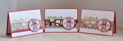 Cartes de Noël Emporte pièce et papier Design Canne de Noël par Marie Meyer Stampin up - http://ateliers-scrapbooking.fr/ - Cookie Cutter Christmas Stamp Set - Ausgestochen