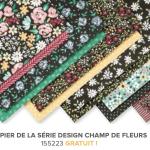Papier de la série Design Champs de fleurs Stampin up