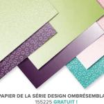 Papier de la série Design ombrésemblable Stampin up