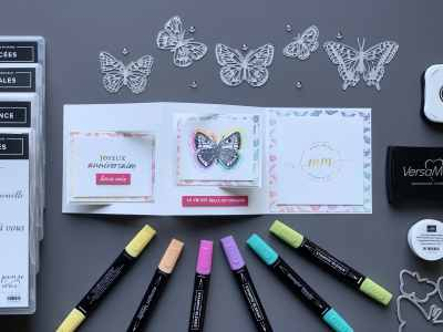 Carte double battants Papillon Butterfly Brillance 2021 8