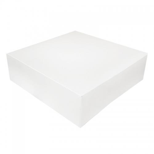 boite a gateau carton blanc 32x10cm ateliers porraz
