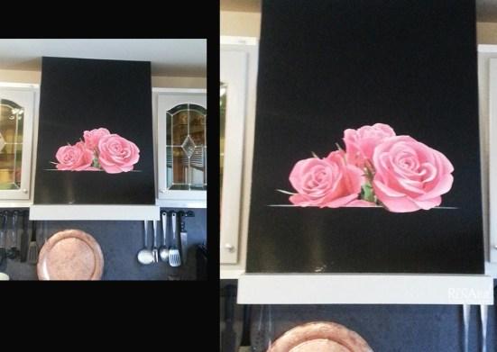 Décor peint sur hotte de cuisine - Ateliers Renard