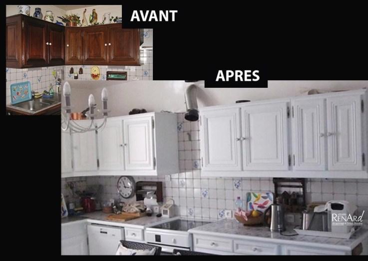 Cuisine peinte en blanc pur - Ateliers Renard