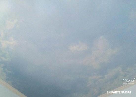 Décor plafond intérieur - Trompe-l'œil faux ciel - Ateliers Renard