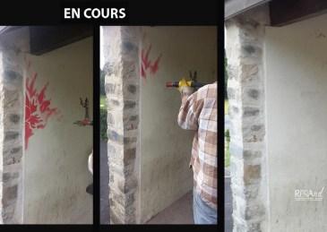 Nettoyage graffitis par aérogommage
