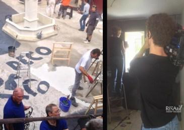 Application de béton sur murs de salle de bain (en cours) - Ateliers Renard