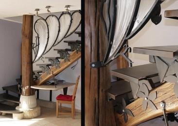 Escalier en métal - Ateliers Renard