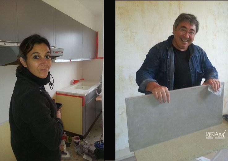 Rocco de 'Resinence' et Stéphanie Renard - Ateliers Renard