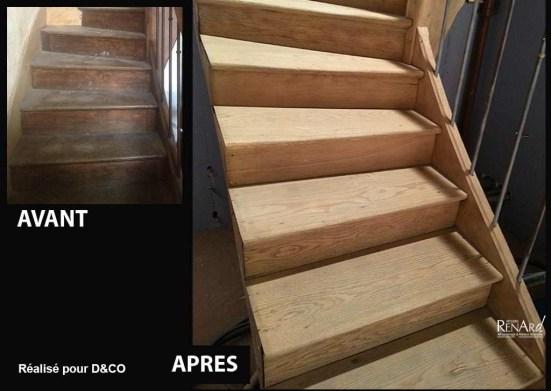 décapage aérogommage escalier