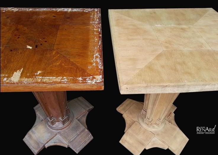 décaper table bois