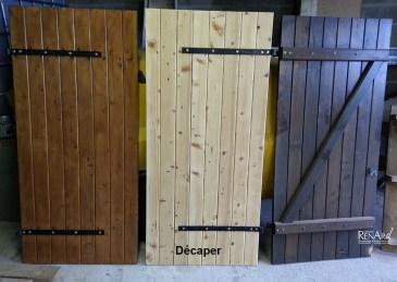 Remise à nu volets en bois - Ateliers Renard