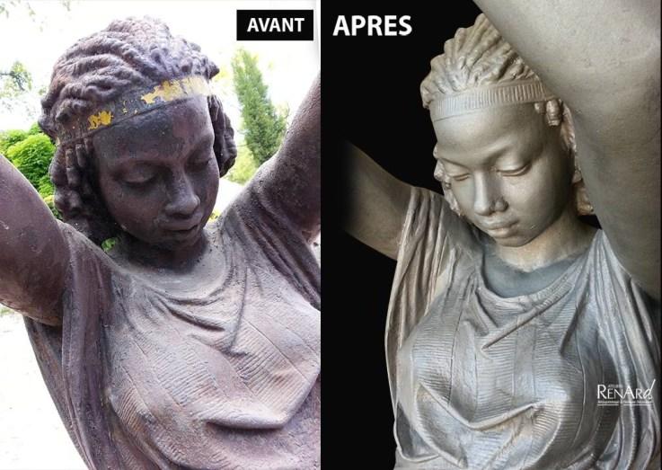 Statue en fonte - Ateliers Renard