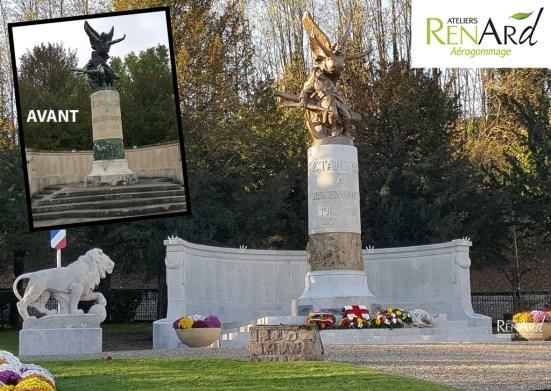 rénovation monument aux mort Etampes