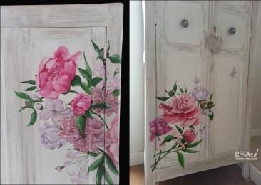 Décor fleuri peint - Ateliers Renard