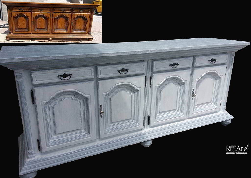 best buffet patin ateliers renard with buffet patine gris ancien. Black Bedroom Furniture Sets. Home Design Ideas