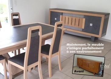 meuble beton bois et patines