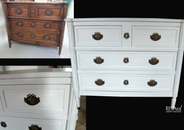 commode patine claire