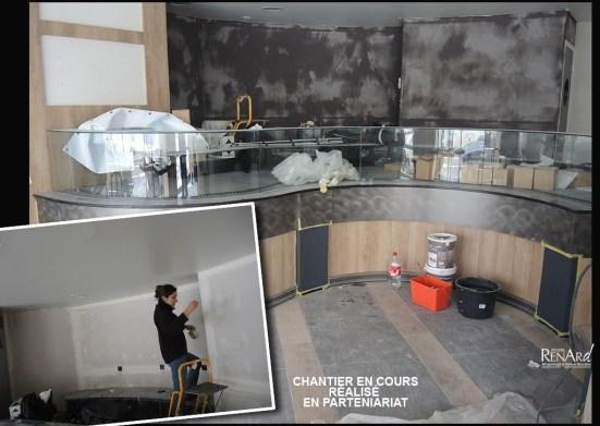 Béton résiné gris - Ateliers Renard
