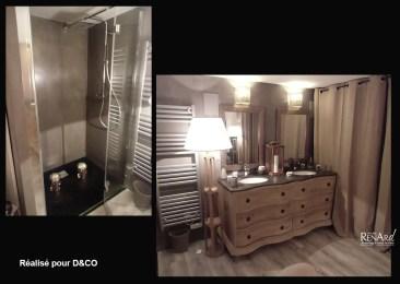 Murs et douche en béton résiné - Ateliers Renard