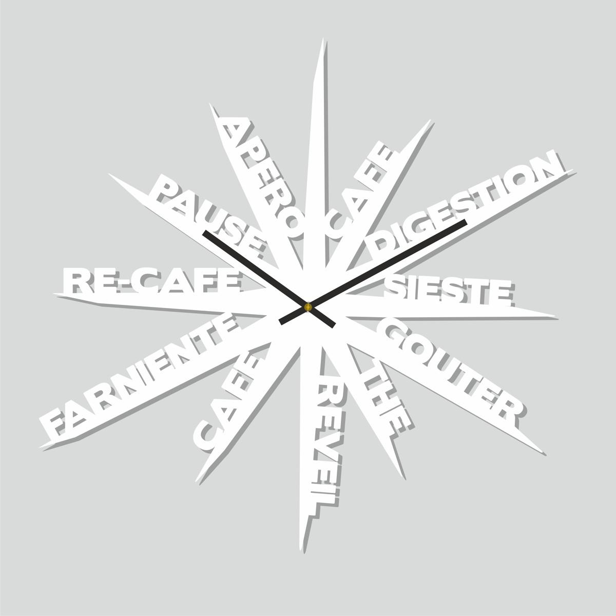 Horloge farniente atelier thorey atelier thorey for Horloge blanche design