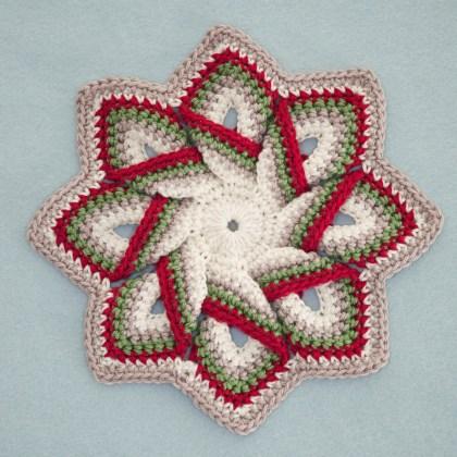 1499a Pannenlap in kerstkleuren