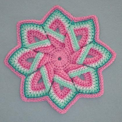 1503a pannenlapin roze groen en wit