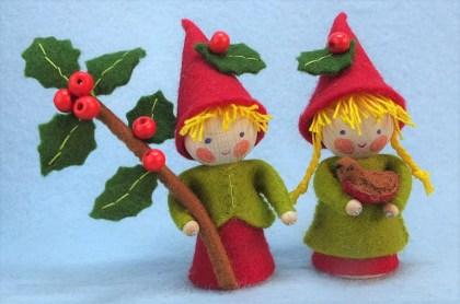 twee kleine kerstkaboutertjes