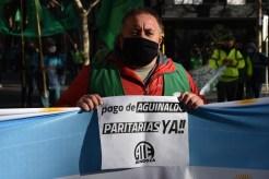 Protesta aguinaldo 27