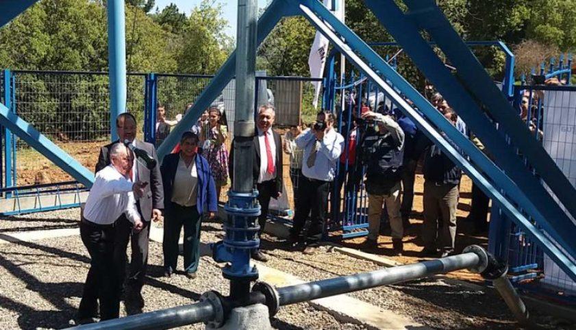 """Inauguraron ampliación del sistema de Agua Potable Rural """"Los Montes"""" en San Clemente"""