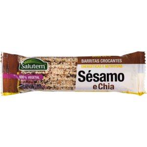 Barra Crocante de Sésamo e Chia Salutem 2x20g até ti