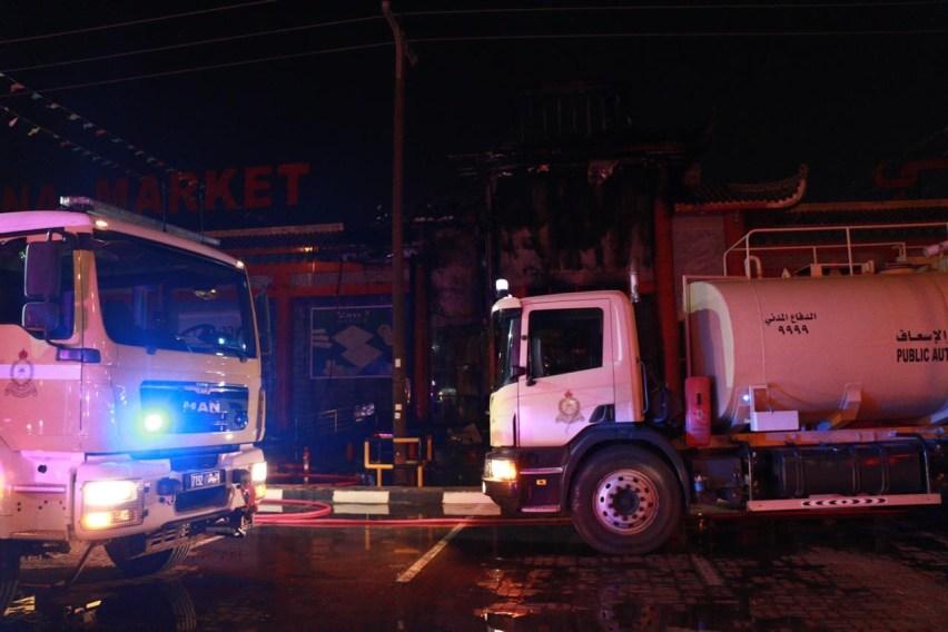 إصاباتان في حريق بصحار