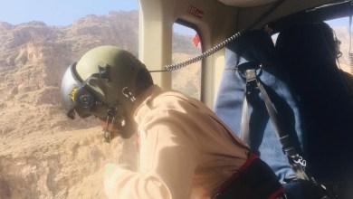 Photo of إنقاذ مُصاب في أحد الجبال بطائرة