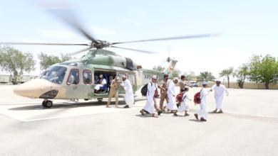 Photo of بالصور: طيران الشرطة ينقل طلابًا لتأدية اختباراتهم