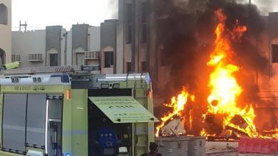 Photo of إخماد حريق في سوق السيب