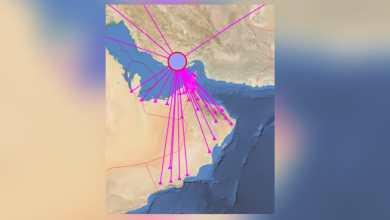 Photo of زلزال يبعد عن مسندم 200 كم