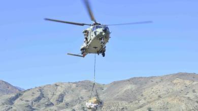 صورة نقل مساعدات لمواطنين عبر طائرات سلاح الجو