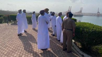 صورة المعولي والمرشدي يزوران ميناء صلالة ومرافقه
