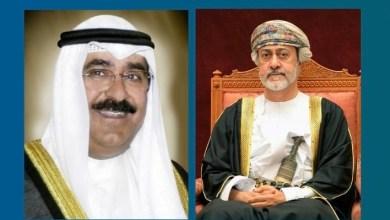 صورة جلالة السلطان يهنئ ولي عهد الكويت