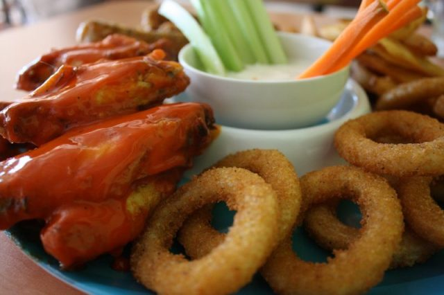 Food Lunch Chicken Meal Onion Rings Meat Dinner