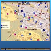 Athens maps Greece Detailed maps of Athens   Athens center map     Map of Akropolis   Plaka      Akropolis Plaka Greece Map
