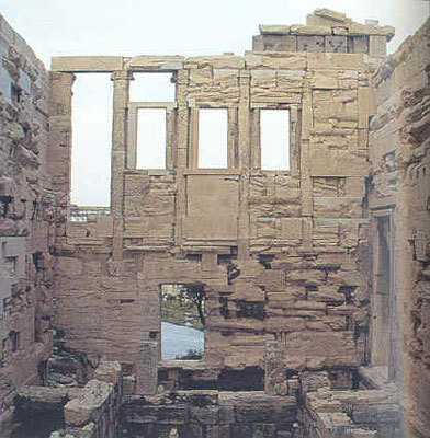 Athens Photo Gallery  Picture of Erechtheion Interior Acropolis Erechtheion Interior Acropolis