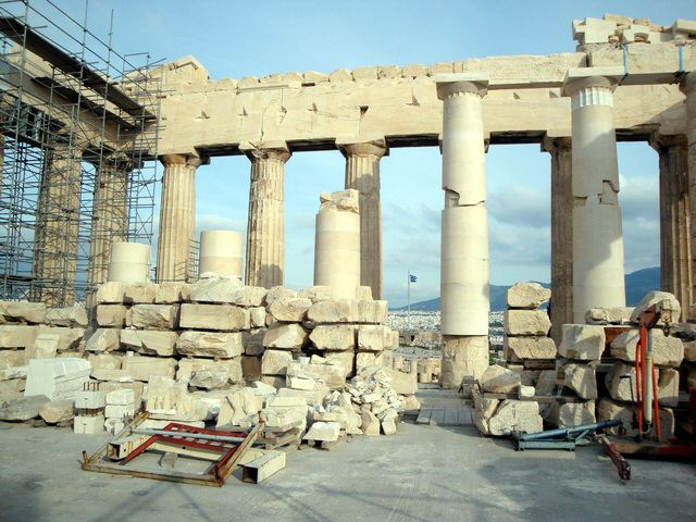 Inside the Parthenon